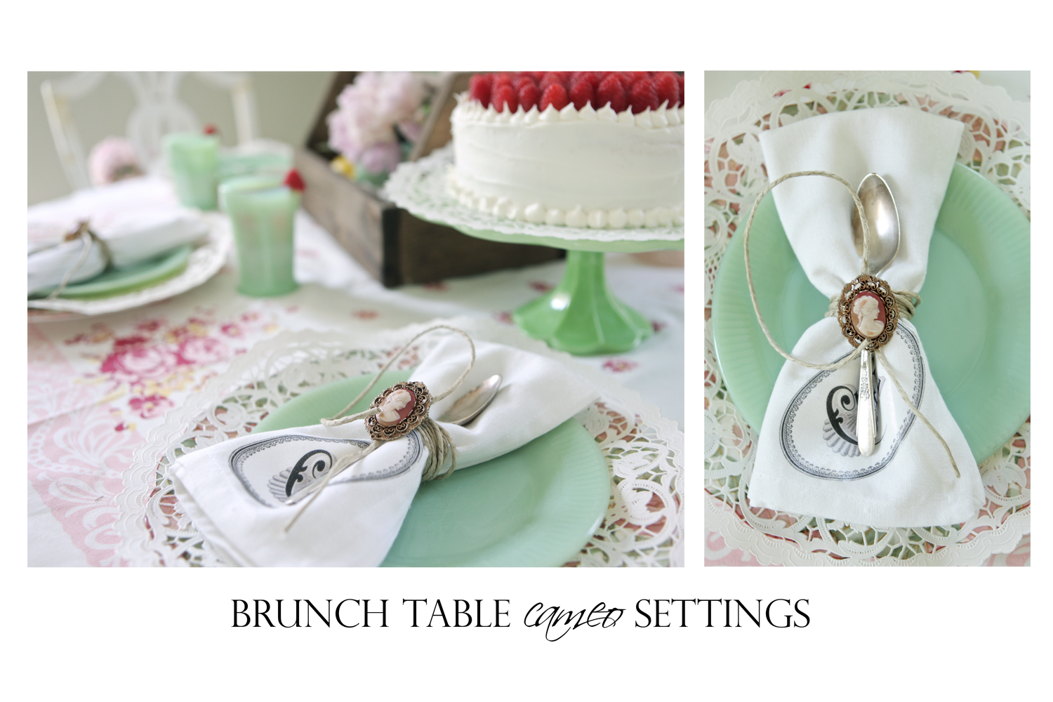brunch table cameo settings
