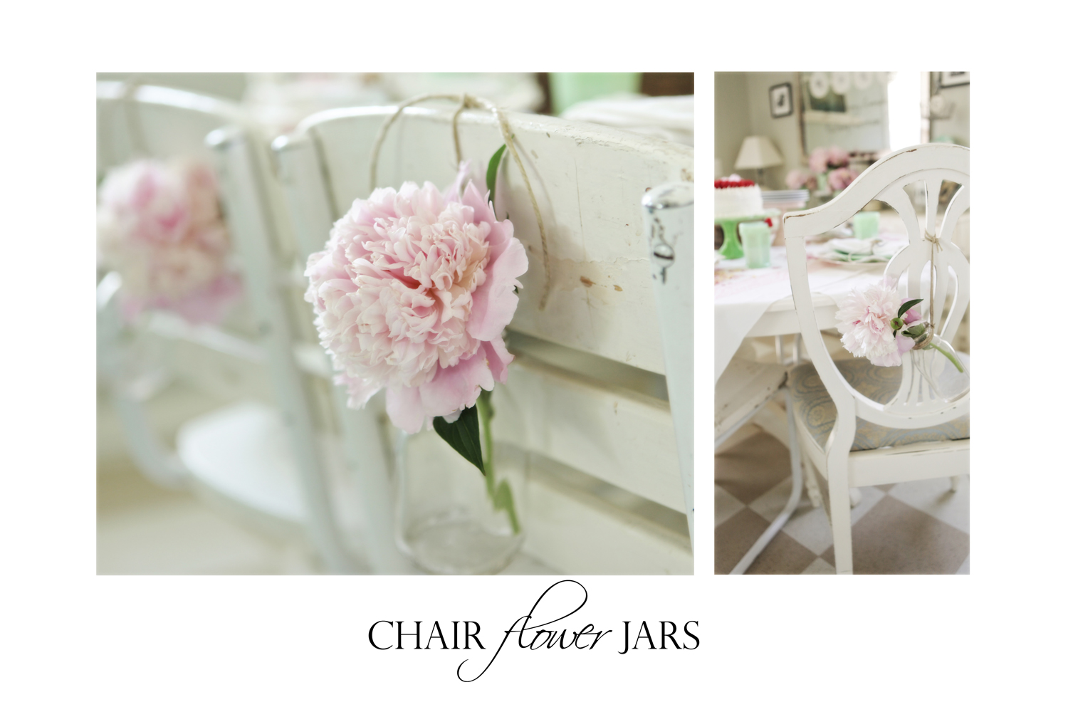 chair flower jars