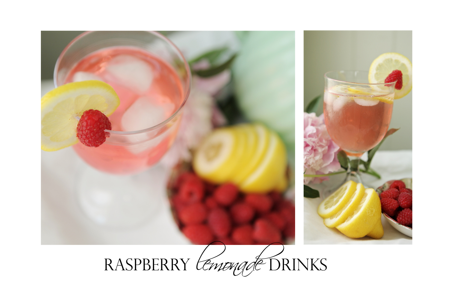 raspberry lemonade drinks