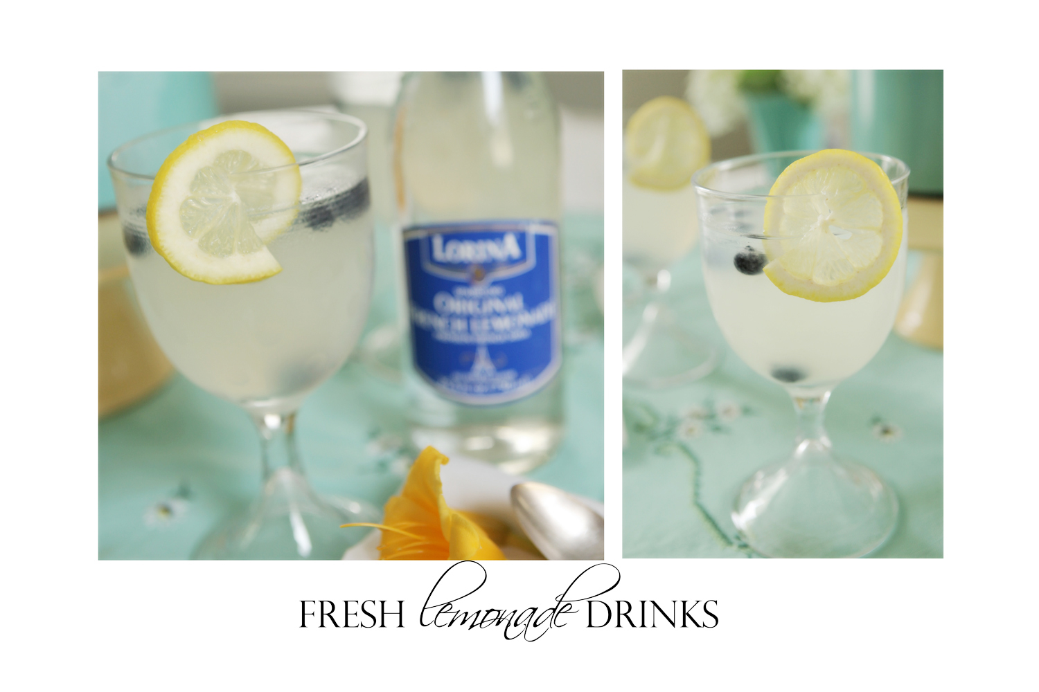 homemade lemonade drinks