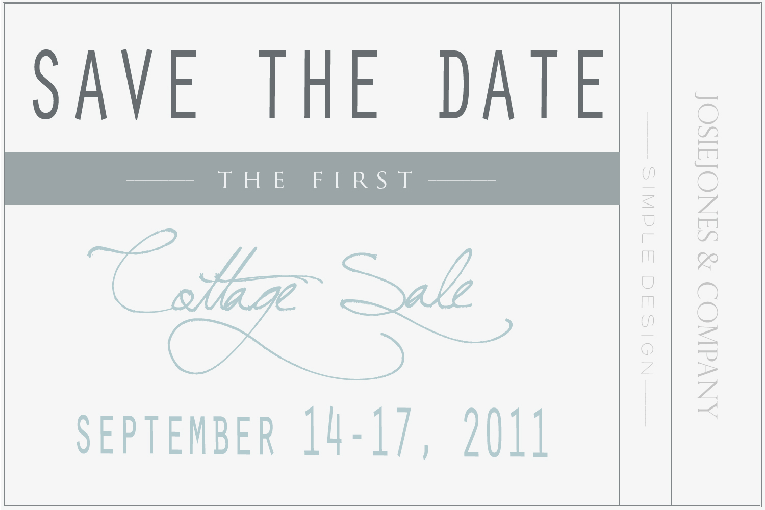 save the date cottage sale