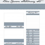 sell blue chevron stationary set