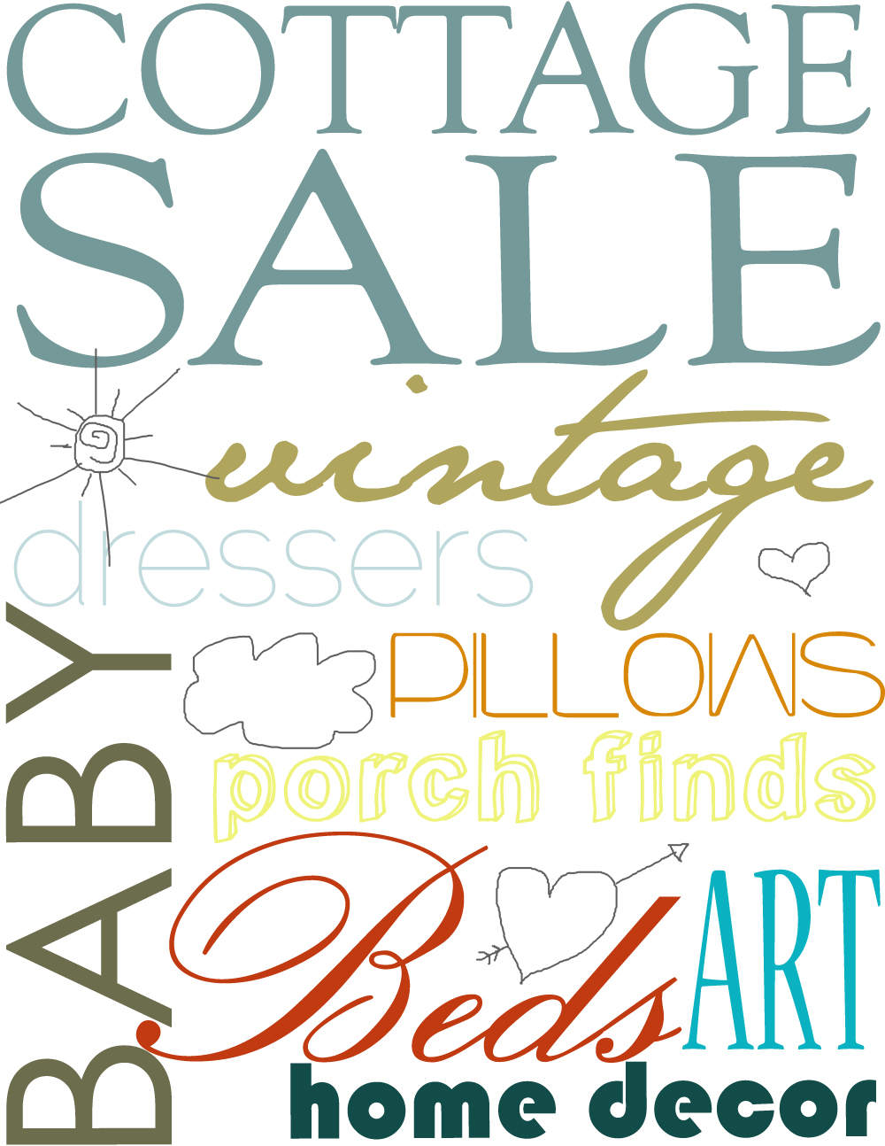 cottage sale poster