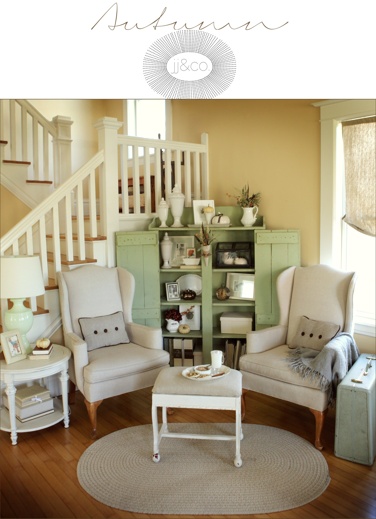 Autumn Living Room Decorating: An Autumn Living Room, Before And After